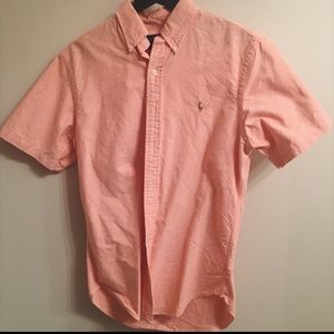 S S Buttoned Shirt from Ralph Lauren in Salmon